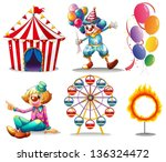 illustration of a circus tent ... | Shutterstock .eps vector #136324472