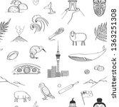 vector seamless pattern new... | Shutterstock .eps vector #1363251308