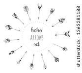 hand drawn arrows set in boho...   Shutterstock .eps vector #1363281188