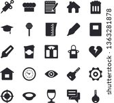 solid vector icon set   house... | Shutterstock .eps vector #1363281878
