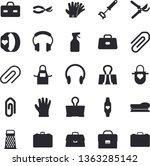 solid vector icon set   apron...   Shutterstock .eps vector #1363285142