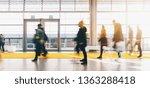 crowd of people visit business... | Shutterstock . vector #1363288418