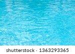 blue swimming pool rippled... | Shutterstock . vector #1363293365