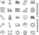 thin line icon set   plane... | Shutterstock .eps vector #1363294412