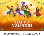 illustration of happy vaisakhi... | Shutterstock .eps vector #1363298975
