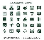 learning icon set. 30 filled... | Shutterstock .eps vector #1363323272