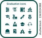 graduation icon set. 16 filled... | Shutterstock .eps vector #1363324388