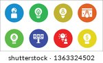 invention icon set. 8 filled... | Shutterstock .eps vector #1363324502