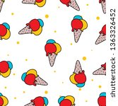 seamless pattern of beach or... | Shutterstock .eps vector #1363326452