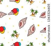 seamless pattern of ice cream ... | Shutterstock .eps vector #1363326605