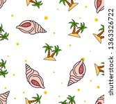 seamless pattern of sea shell... | Shutterstock .eps vector #1363326722