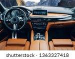 Modern Suv Car Interior With...