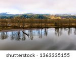 calm day at beautiful columbia... | Shutterstock . vector #1363335155