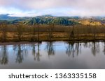calm day at beautiful columbia... | Shutterstock . vector #1363335158