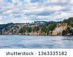 calm day at beautiful columbia... | Shutterstock . vector #1363335182