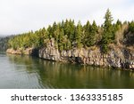 rocks and forest at high... | Shutterstock . vector #1363335185