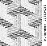 white  gray modern geometric... | Shutterstock .eps vector #136334258