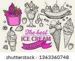 ice cream illustration for... | Shutterstock .eps vector #1363360748