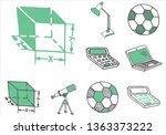 set of school equipment doodle...   Shutterstock .eps vector #1363373222