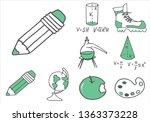 set of school equipment doodle...   Shutterstock .eps vector #1363373228