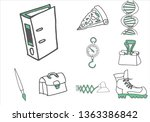 set of  various items and...   Shutterstock .eps vector #1363386842