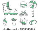 set of  various items and...   Shutterstock .eps vector #1363386845
