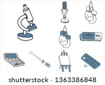 set of various items and...   Shutterstock .eps vector #1363386848