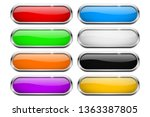 oval buttons. glass colored... | Shutterstock .eps vector #1363387805