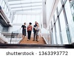 group of young businesspeople... | Shutterstock . vector #1363393772