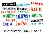 stamps multi set  urgent ... | Shutterstock .eps vector #1363425545
