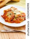 home made italian baked... | Shutterstock . vector #1363434098