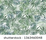 watercolor background with palm ... | Shutterstock . vector #1363460048