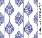 blue and white luxury ornament... | Shutterstock .eps vector #1363462742