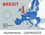 Brexit. Poster Map Of The...