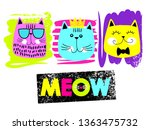 cute abstract illustration with ... | Shutterstock .eps vector #1363475732