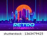 retro background in neon colors ... | Shutterstock .eps vector #1363479425
