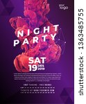 night party template  dance... | Shutterstock .eps vector #1363485755