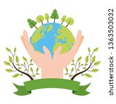 earth day card | Shutterstock .eps vector #1363503032