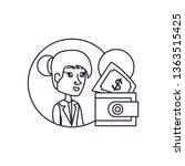 business woman in frame... | Shutterstock .eps vector #1363515425