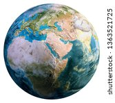 planet earth continents....   Shutterstock . vector #1363521725