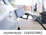 gas station. filling the tank... | Shutterstock . vector #1363523882