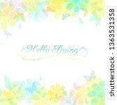 abstract spring summer... | Shutterstock .eps vector #1363531358