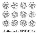 set of fingerprints isolated on ... | Shutterstock .eps vector #1363538165