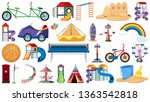 set of playground tools... | Shutterstock .eps vector #1363542818
