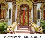 architecture in thai temples ... | Shutterstock . vector #1363560635