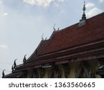 architecture in thai temples ... | Shutterstock . vector #1363560665