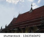 architecture in thai temples ... | Shutterstock . vector #1363560692