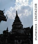 architecture in thai temples ... | Shutterstock . vector #1363562108