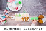 flat lay. step by step.... | Shutterstock . vector #1363564415