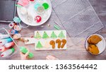 flat lay. step by step.... | Shutterstock . vector #1363564442